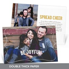 This premium Christmas card printed on double thick paper is really special when you add your beautiful, full-size horizontal photo and a white border to frame it! #Holiday #ChristmasCards #PremiumCards