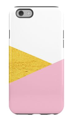 Gold & Pink Geometry #phonecase by ARTbyJWP on redbubble #iphonecase #phonecases #galaxycase #phoneaccessories #techaccessories #gold #pink #geometry
