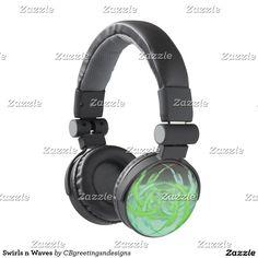Swirls n Waves Headphones