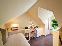 bedroom, desk