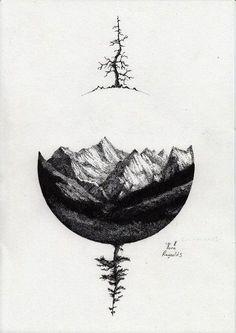 Stylish Mountain Tattoos