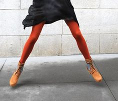 Don't be afraid to pair orange and black.  While traditionally Halloween, when paired with a chalky grey, it's a combination that is suddenly way more chic than candy corn!