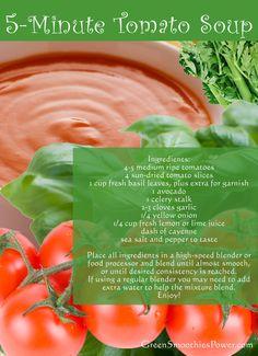5 Minute Super-Easy Fresh Tomato Basil Soup Recipe