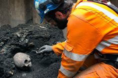 Bedlam. The latest discoveries from workers on the Crossrail project include the remains of the Bedlam asylum, and evidence of people living on the River Thames some 9,000 years ago. Archaeologists have been poring over the human remains found near the Liverpool Street site, which was the location of a burial street beside Bedlam, the psychiatric hospital which was once on Bishopsgate.  Also, the remains of a Roman road, which may have crossed the nearby lost  River Walbrook.