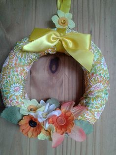 spring/summery wreath by GleefulGoat on Etsy, £8.50