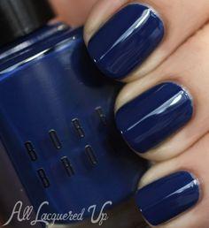 Navy nail polish