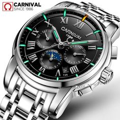 2f9aaf8f352 luxury brand Tritium T25 luminous military watch men moon phase auto  mechanical watches full steel waterproof clock uhren montre Review