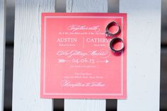 Coral wedding invitation // photo by http://tnesmithphoto.com