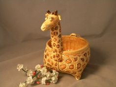 Pinch Pot Giraffe with Coil Neck: Learning Goal: Organic Form