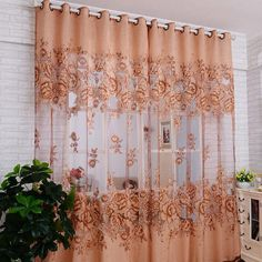 14 diy kitchen window treatments for the home pinterest curtains for the living room bedroom jacquard burnout half blackout curtain sheer us 1050 solutioingenieria Image collections