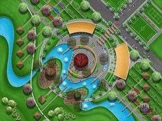 Landscape Plane, Landscape Architecture Drawing, Architecture Concept Drawings, Landscape Design Plans, Organic Architecture, Urban Landscape, Urban Design Concept, Urban Design Plan, Parking Design