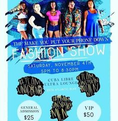 Come see the biggest Fashion Show in Jacksonville coming to Cuba Libre this Saturday, 11/4. It all starts at 5pm! #TeamUnspoken