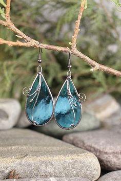 Handmade Bracelets, Earrings Handmade, Handmade Jewelry, Handmade Gifts, Blue Earrings, Unique Earrings, Handmade Accessories, Jewelry Accessories, Jewelry Party