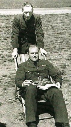 F/L William J Leather of No 611 Squadron RAF, seated with F/O Philip S C Pollard, claimed an Me 109 destroyed over Dunkirk on 2 June 1940, before destroying 2 Do 17 bombers and sharing in the destruction of another 3 from early July. Pollard was serving with the squadron at RAF Digby in May 1940 and stayed with them throughout the Battle of Britain, claiming a Do 17 shared on 15 September and 2 more shared on 11 October.