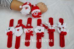 20db / tétel karácsonyi party játékok csuklópánt karácsonyi dekoráció a kertben kis ajándék gyerekeknek Mikulás Hóember Deer S31