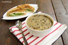 Best Ever Mushroom Soup | www.BitesofWellness.com