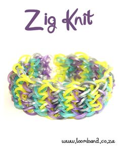 Zig Knit Loom Band Bracelet Tutorial, instructions and videos on hundreds of loom band designs. Shop online for all your looming supplies, delivery anywhere in SA.