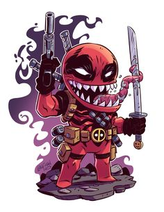 Who is in the image tell me fast deadpool or carnage by writing a comment. If you want more such chibi images visit my board chibi. Drawing Cartoon Characters, Comic Book Characters, Character Drawing, Comic Character, Cartoon Drawings, Chibi Marvel, Marvel Art, Marvel Dc Comics, Marvel Heroes