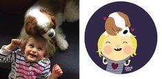Artista cria Ilustrações a partir de fotos de bebês - Garotas Nerds