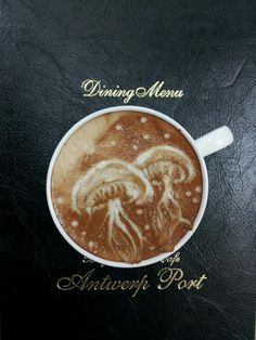 Not so sure about jellyfish... but the latte art is great!
