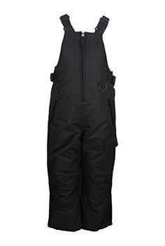 ARCTIC QUEST Unisex Boys and Girls Ski Bib Overalls with Zip Pockets Cargo Pocket