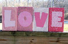 DIY Love Blocks