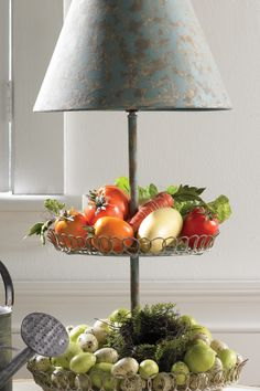 Two Tier Lamp Tray