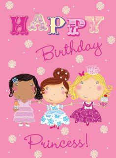 Louise Anglicas - LAS_princess card.jpg #compartirvideos.es #felizcumpleaños