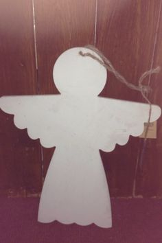 Large wooden angel perfect as she is or to use as a blank fir decoupage . Sew Darn Pretty Vintage Home .