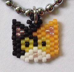 Beaded cat necklace / choker Calico от GoodBeadDeeds на Etsy