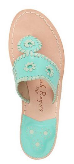 Mint Jack Rogers sandals