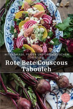 Rote Bete Couscous Tabouleh mit Fetakäse, Feigen und orientalischem Dressing, tolles Rezept für leckeren winterlichen Salat, Foodblog trickytine. #rotebete #couscous #tabouleh #feta #käse #feigen #orientalisch #dressing #toll #rezept #lecker #winterlich #salat #winter #foodblog #trickytine