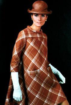 Maud Adams is wearing Pierre Cardin, Vogue Pattern Book Autumn 1967
