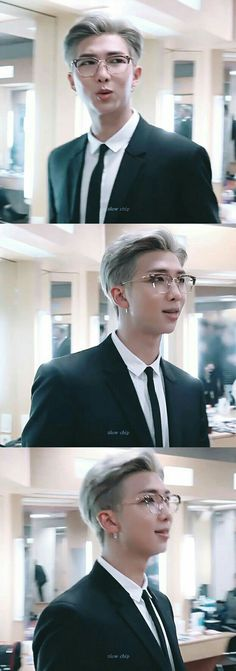 Everytime I show a pic of Namjoon with these glasses on to my mom she ask for if that's why I got glasses like this -CLS Kim Namjoon, Jung Hoseok, Bts Boys, Bts Bangtan Boy, Mixtape, Rapper, Bts Rap Monster, Korean Boy Bands, About Bts