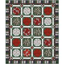 Berries and Blooms Quilt - Silver Colorway