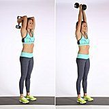 Overhead Triceps Extensions #kettlebellexercisesforweightlosskettlebellexercisesforwomen
