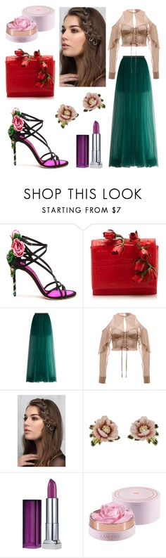 """Midsummer night's dream"" by srsolon ❤ liked on Polyvore featuring Dolce&Gabbana, Nancy Gonzalez, Delpozo, Rare London, Les Néréides, Maybelline and Lancôme"