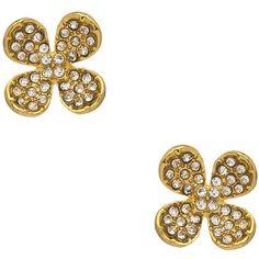 Flower Stud Earrings ($35) ❤ liked on Polyvore