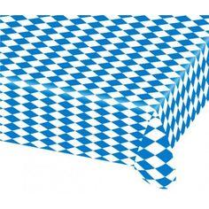 Bayern OktoberfestBiertisch-Tischdecke80 x 260 cmPlastik Tischdeckedünne leichte Party QualitätabwaschbarUnverzichtbar bei jedem bayrischen Fest! Im typisch blau-weißen Rautenmuster bedruckt.