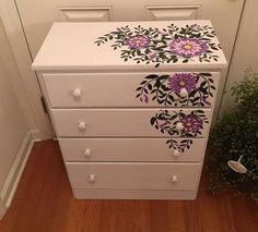 cute chest, painted furniture