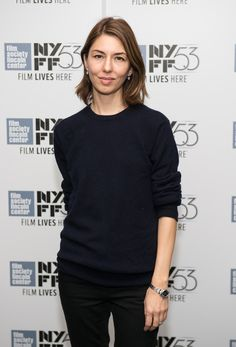 """Sofia Coppola Photos - Sofia Coppola attends the cocktail reception for """"Maggie's Plan"""" during the New York Film Festival at Alice Tully Hall, Lincoln Center on October 2015 in New York City. - New York Film Festival - 'Maggie's Plan' - Cocktail Reception Sofia Coppola Style, Gia Coppola, Rebecca Miller, Minimalist Dresses, Minimalist Fashion, Film Life, Maggie's Plan, Victoria Dress, Alexa Chung"""