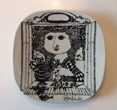 Bjorn Wiinblad Vintage Plate 1979-1980 for Nymolle, Denmark - $50.10 at tingthing