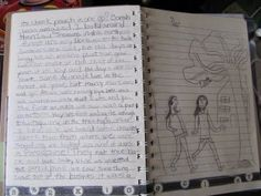 Instead of notebooking,  this might be a good option.  Creating a travel journal.   In this blog, the girl invented a character named Maria that traveled around the world and her entries contained all the relevant science information.