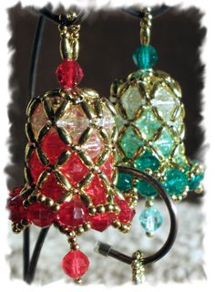 Bead Bell Ornaments - Hand Made Beaded Christmas Bells | Ornament Styles