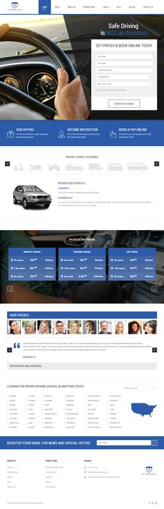 Driver is Premium full Responsive HTML5 Driving School template. Bootstrap 3 Framework. Google Map. Clean and Commented Code. Test free demo at: http://www.responsivemiracle.com/cms/driver-premium-responsive-driving-school-html5-template/