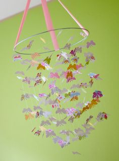In LOVE with this mobile. Handmade little butterflies! Adding it to my wish list!