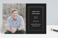 Dapper Foil-Pressed Graduation Petite Cards by lena barakat at minted.com
