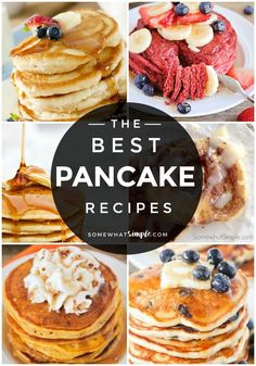 Favorite Pancakes – 10 Pancake Recipes We Love Fluffy pancakes, pumpkin pancakes, German pancakes and more! Grab a glass of milk and get ready for our very favorite pancake recipes! Fast Food Breakfast, Best Breakfast Recipes, Pancake Recipes, Waffle Recipes, Brunch Recipes, Gourmet Recipes, Pancake Ideas, Mexican Breakfast, Crepe Recipes