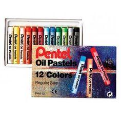 Giz de cera Pastel Oil 12 cores PHN-12 Pentel www.papelariaartnova.com.br R$ 5,07