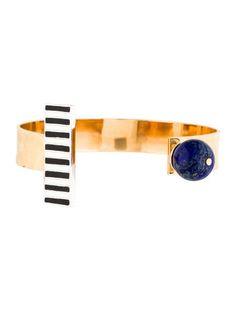Lapis Lazuli & Enamel Brian Cuff Bracelet